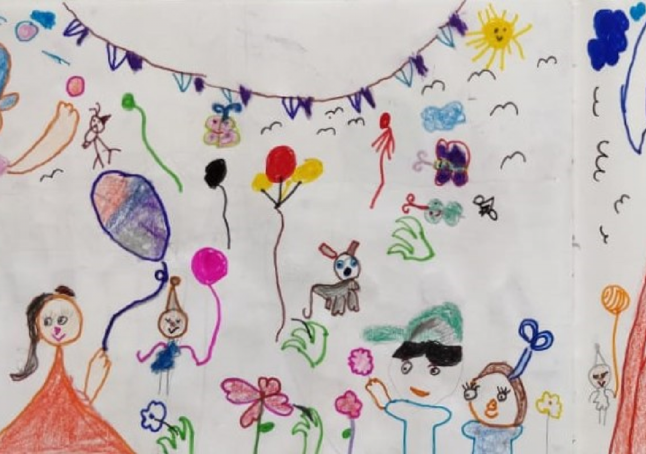 Cover art by siblings Yashvi and Tanush Dutt – our 6 & 5 year old friends and listeners from Ahmedabad, for Kengeri Kannan Goes to the Village Fair.