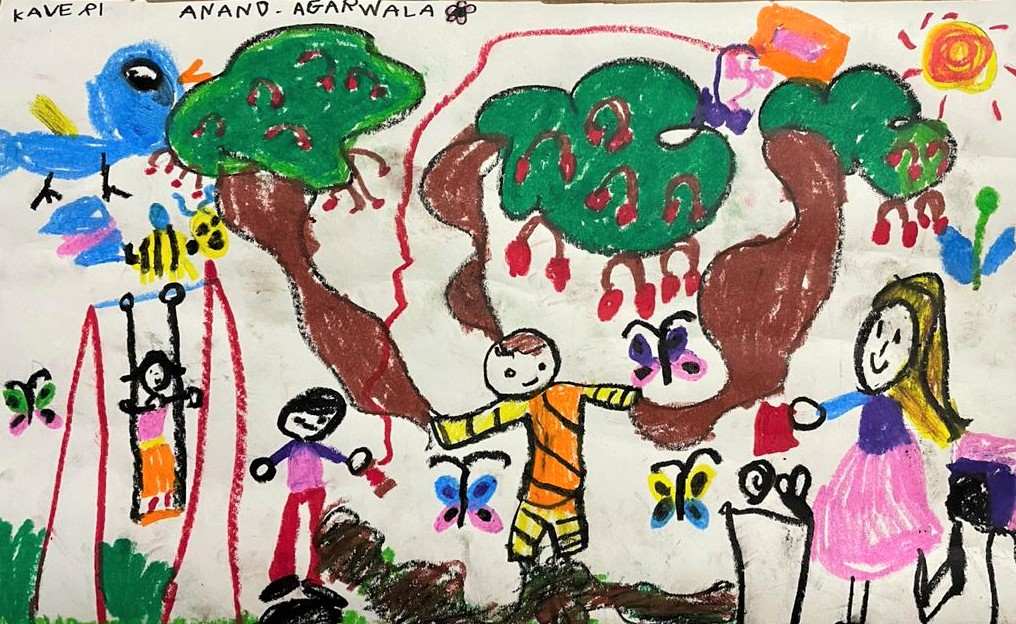 Cover Art by Kaveri Anand Agarwala, our 5-year-old friend and listener from Bangalore, for A Magical Day.
