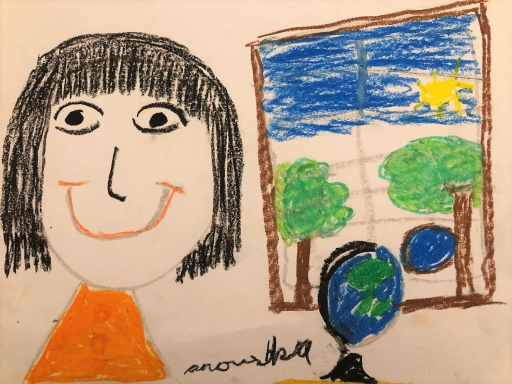 Cover Art by Anoushka Mary John, our 7-year-old friend and listener from Bangalore, for Yara Wants To Go Somewhere.